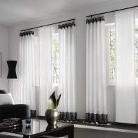 вариант применения современных штор в красивом декоре квартире картинка
