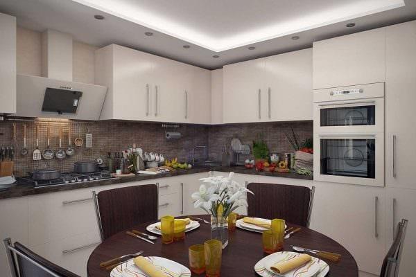 вариант применения красивого декора кухни фото