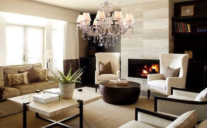 идея использования светового дизайна в красивом декоре дома