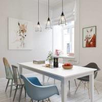 вариант применения светового дизайна в ярком стиле квартиры картинка