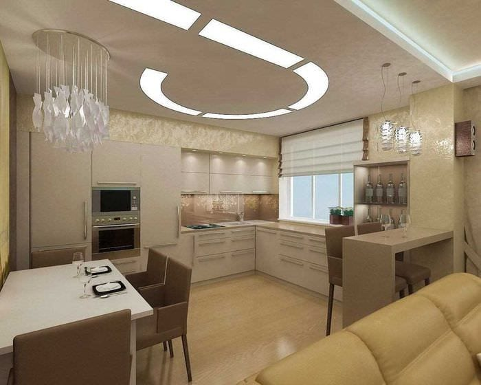 идея использования светового дизайна в необычном интерьере дома