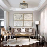 идея использования интересного бежевого цвета в дизайне комнаты