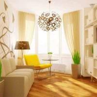 вариант применения необычного бежевого цвета в стиле квартиры