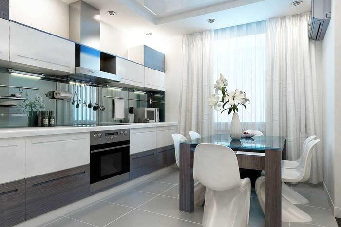 идея применения яркого стиля кухни