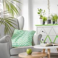 идея использования зеленого цвета в ярком декоре квартиры картинка