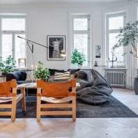 вариант яркого дизайна квартиры в скандинавском стиле картинка