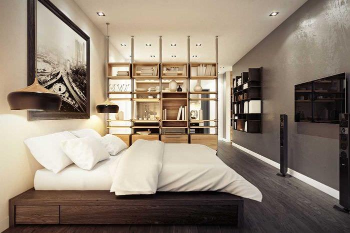 вариант необычного стиля квартиры студии