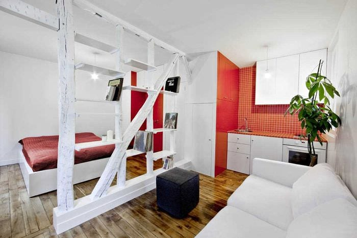 идея красивого декора маленькой комнаты в общежитии