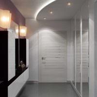 идея красивого декора современной прихожей комнаты картинка