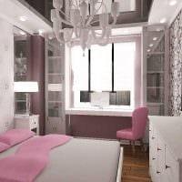 вариант светлого дизайна спальной комнаты для девочки в современном стиле картинка