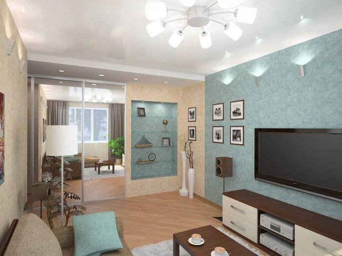 идея красивого дизайна двухкомнатной квартиры