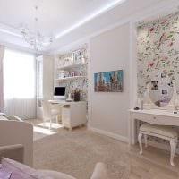 вариант красивого стиля комнаты для девочки 12 кв.м картинка