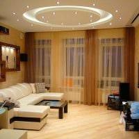 идея красивого интерьера спальни гостиной 20 кв.м. фото