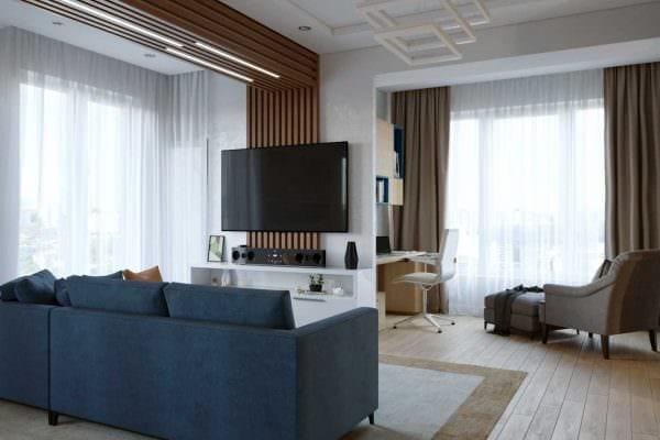 идея красивого интерьера спальной комнаты для молодого человека фото
