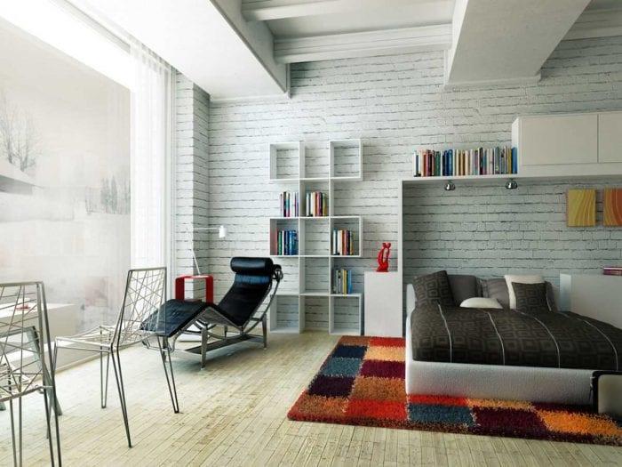 вариант красивого дизайна спальной комнаты для молодого человека