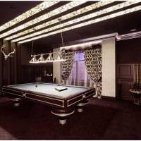 вариант светлого стиля бильярдной комнаты картинка