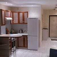 идея светлого стиля спальной комнаты 18 кв.м. фото