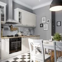 пример яркого дизайна кухни 8 кв.м фото