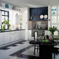 пример яркого дизайна кухни 9 кв.м картинка