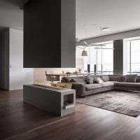 идея светлого интерьера квартиры студии фото