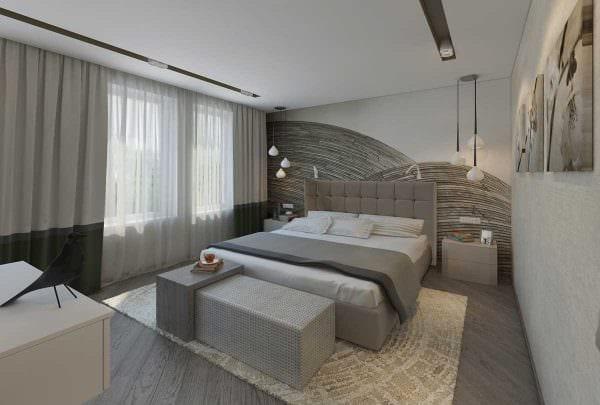 вариант необычного интерьера спальни для молодого человека картинка