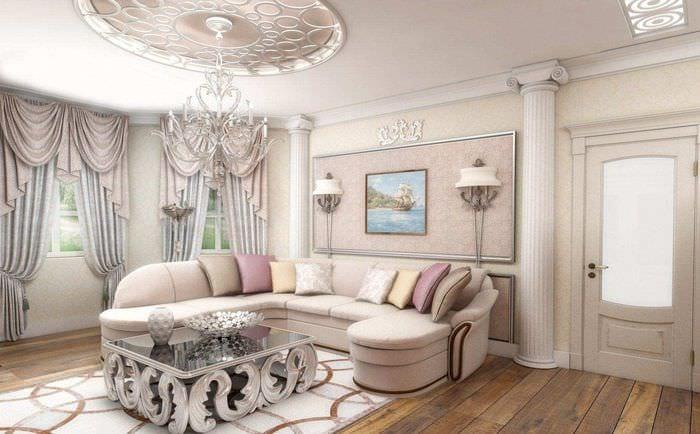 вариант яркого сочетания цвета в интерьере современной комнаты