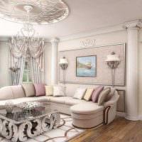вариант светлого сочетания цвета в стиле современной комнаты фото