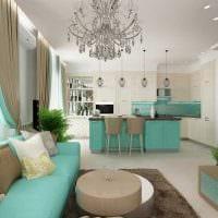 вариант необычного сочетания цвета в декоре современной квартиры фото