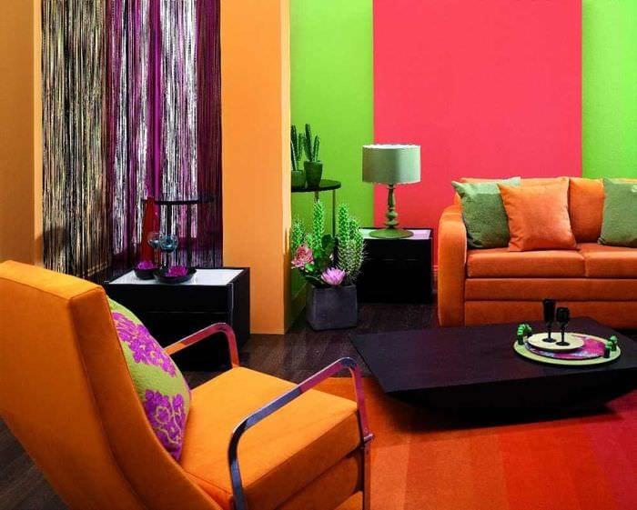 идея красивого сочетания цвета в стиле современной квартиры