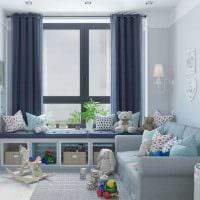 пример необычного современного декора детской комнаты картинка