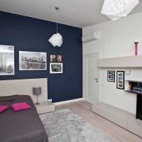 идея светлого современного дизайна детской комнаты фото