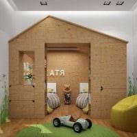 вариант необычного декора детской комнаты для двоих детей фото