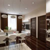 пример яркого стиля двухкомнатной квартиры картинка