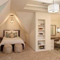 вариант яркого интерьера детской комнаты для девочки 12 кв.м фото
