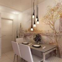 вариант яркого стиля квартиры с росписью стен картинка