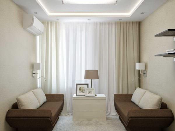 идея необычного интерьера маленькой комнаты фото