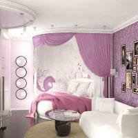 вариант красивого дизайна спальной комнаты для девочки в современном стиле фото