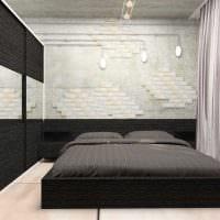 идея светлого стиля спальной комнаты для молодого человека фото