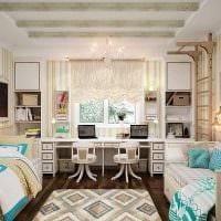 идея необычного интерьера спальни для девочки в современном стиле картинка