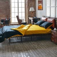 вариант яркого декора спальни для молодого человека картинка