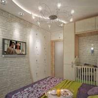 идея светлого дизайна двухкомнатной квартиры картинка