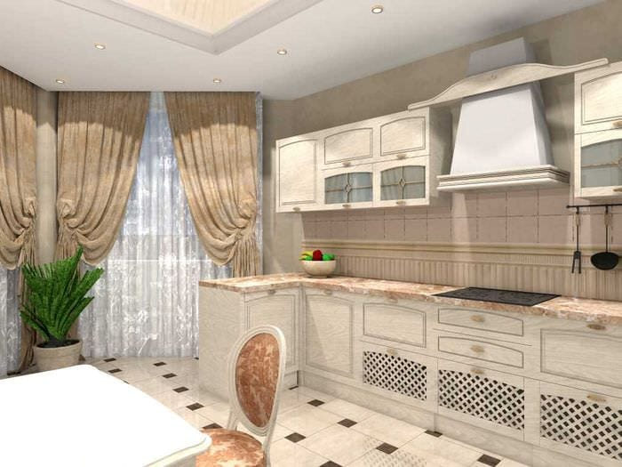 идея необычного стиля двухкомнатной квартиры