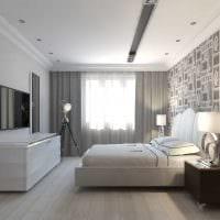 вариант светлого стиля спальни гостиной картинка