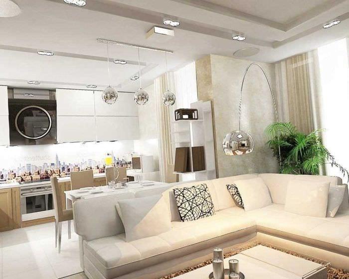 вариант красивого стиля зала в частном доме