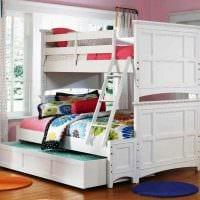 идея красивого дизайна детской комнаты для девочки 12 кв.м фото