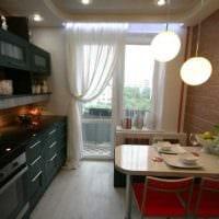 идея яркого интерьера кухни 14 кв.м фото