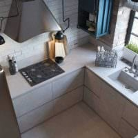 вариант красивого дизайна кухни 8 кв.м картинка