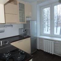 вариант красивого дизайна кухни 9 кв.м картинка