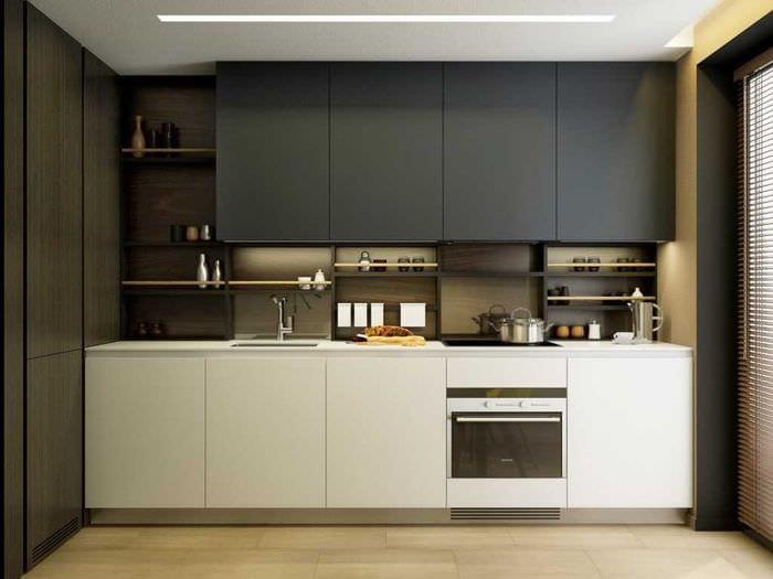 пример красивого стиля кухни 9 кв.м