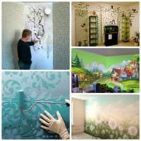 идея красивого дизайна дома с росписью стен фото